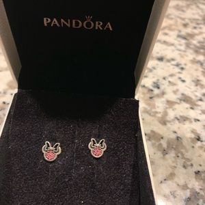 Pandora Minnie Mouse earrings